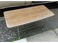 Vintage Retro 50's 60's Small Melamine Coffee Table