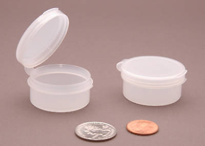 Plastic 7 (7 Hinged Plastic Containers Pill Pods Box Mini Medication Cases 10ml ~ BPA)