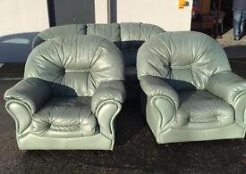 ⭐ LIGHT GREEN 3+1+1 SUITE - CAN DELIVER ⭐