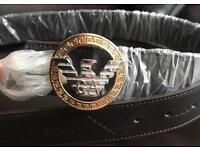 Brandnew Men's Emporio Armani Leather Belt xmas gift boys gents cheap Giorgio