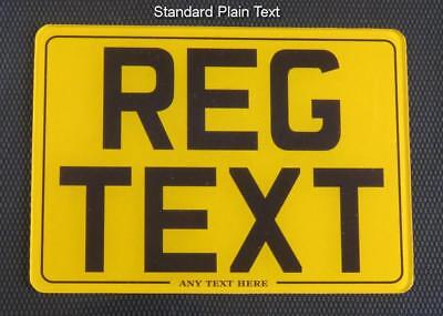 7x5 MOTORCYCLE BIKE SHOW STYLE SMALL NUMBER PLATE/SIGN