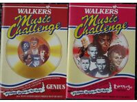 Vintage 1980's Walkers Crisps Music Challenge quiz books/book – post or collect