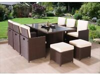 **FREE UK DELIVERY 1-3 DAYS!** 11-Piece Rattan Garden Conservatory Furniture - 50% OFF!