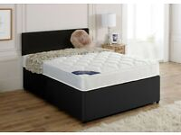 Superior Comfort == 4FT6 DOUBLE OR 5FT KING DIVAN BED BASE WITH DEEP QUILTED MATTRESS