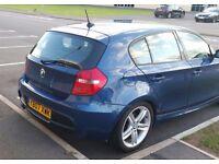 2007 BMW 118D M SPORT BLUE MANUAL HPI CLEAR HALF LEATHER SPORT HATCH DIESEL NEW