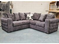 BUTTN TUFTED ALASKA CORNER SOFAS WITH MATCHING FOOTSTOOLS