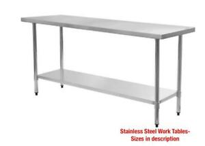 STAINLESS STEEL SALE Work Tables/Sinks/Shelves/Faucets**GREAT DEALS**