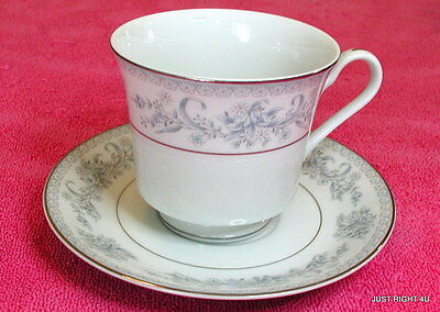 Mikasa (Dresden Rose) CUP & SAUCER SET(s) Exc Pat L9009 (6 avail) Dresden Rose Cup