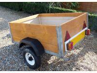 Galvanised car box trailer