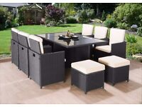 **FREE UK DELIVERY** 11-Piece Rattan Garden Conservatory Furniture - 50% OFF!
