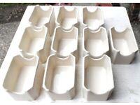 10 x Steelite Simplicity White ....Packet Sugar Holders.... New
