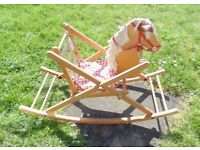 (#336) wooden rocking horse (Pick up only, Dy4 area)