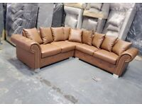 -NEWLY LAUNCHED ASHWIN-BROWN LEATHER SOFA CORNER SOFA AND 3+2 SOFA SET AVAILABLE NOW -