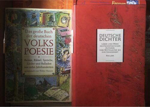 Lieder Gedichte Volkspoesie Deutsche Dichter Je 6