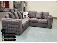 == ROYAL FURNISHING'S BRAND NEW ALASKA FABRIC CORNER OR 3+2 SOFA SET ==
