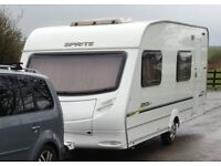 Sprite Major 6. 6 berth. Fixed bunks beds. Dinette area makes 2 more bunks. Full sized awning.