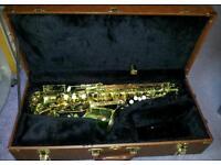 Green Alto Saxophone