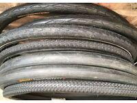 28 26 20 inch slick road city tyres for hybrid bikes (700 622 din)