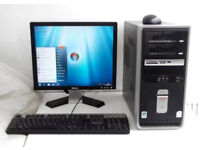 HP (WIFI, i3, Monitor, K/M, Office 2013, Photoshop, Adobe) All In One, Desktop PC, Computer, Mini PC
