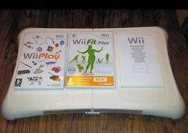 Nintendo Wii Balance Board Bundle + Wii Play + Wii Fit Plus