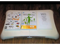 Nintendo Wii Balance Board Bundle + Wii Play + Wii Fit Plus