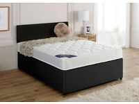 🌈🌈BUY IT NOW GET SAME DAY🌈🌈 DOUBLE DIVAN BED BASE INCLUDING MATTRESS (Headboard Optional)