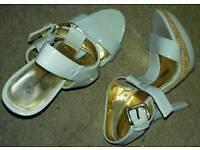 Ladies blue high heels size 7