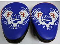 Furiousfistsuk Genuine Leather Focus Pads Blue/Black Color