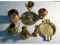 joblot of vintage miniature brass ornaments