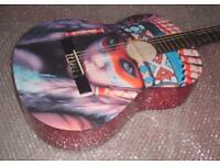 RED INDIAN CHILD - AMAZING DECORATIVE GUITAR - FULL SIZE CLASSICAL GUITAR