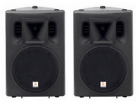 """PA system - 2 x 12"""" speakers 300W RMS 8 ohm + 350W Stereo amp"""