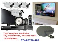 CCTV Security Camera , Sky Dish satellite Antenna , TV REPAIR & Wall Mount INSTALLATION