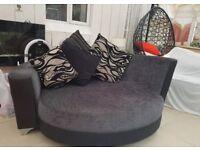 Black/ grey sofa and chair