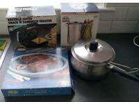 Prestige Chip Pan, Sandwich Toaster, Microwave Browning Griddle, Steamer - Collect Sunderland