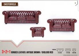 Bonded Leather Chesterfield