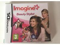 "Nintendo DS ""Imagine Beauty Stylist"" game"
