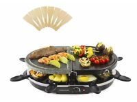 Andrew James Traditional Half Stone Half Traditional Raclette Grill