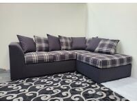 == ROYAL FURNISHING'S BRAND NEW DYLAN CHEQUERS CORNER OR 3+2 SOFA SET ==