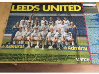 Autographed 1992-93 Leeds United team poster