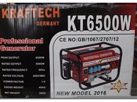"NEW KRAFTTECH KT6500W PORTABLE PROFESSIONAL GENERATOR & FREE 10"" MITRE SAW"
