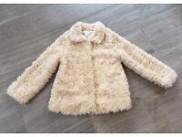 Girls Zara Fur Coat Age 7-8