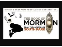 The Book Of Mormon Tickets X 2 Stalls Saturday 25th February 19:30pm £100 Both