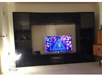 Large black gloss TV unit