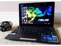 "Excellent ASUS 250GB Netbook,10.3"" LED Display,2GB DDR3 RAM,Quad CPU,wifi,webcam,MS office+Charger"