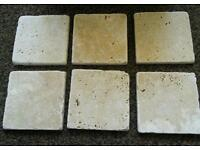 Travatine tiles 100mm X 100mm 118 in total.