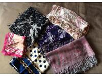 Selection of Brand New and Used Ladies Cashmere and Silk Scarves