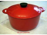 Le Creuset Style French Heavy Cast-Iron 24cm Casserole by Cuisine Royal