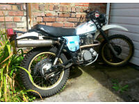 Yamaha XT 500cc 1980 Aluminium tank, gold alloy wheels, chrome exhaust, leather saddle, good runner
