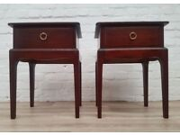 Pair Of Stag Minstrel Bedside Cabinets (DELIVERY AVAILABLE)