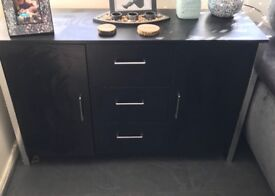 Black sideboard and matching tv unit